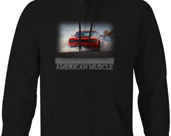 American Muscle Dodge Hemi SRT Burnout Hooded Sweatshirt- 5112