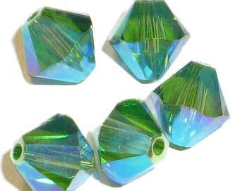 Fern Green AB2X - 4mm, 6mm - Swarovski Crystal Bicone