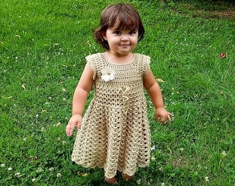 Crochet Lil Gal On the Prairie Dress Pattern 12-24M Only DIGITAL DOWNLOAD ONLY