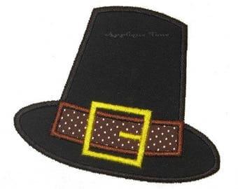 Mini Pilgrim Hat embroidery pattern