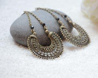creole ethnic bronze earrings