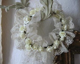 Vintage roses party in tulle lace boudoir french shabby chic style JDL