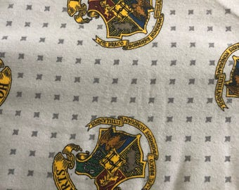 Personalized Harry Potter Hogwarts and Minky Baby Blanket