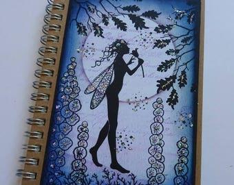 Fairy notebook, OOAK journal, Pocket book, Magical notebook, Fairy jotter, C6 notebook, Fairy lover gift