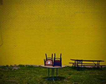 Yellow Brick Wall - 11x14 Print