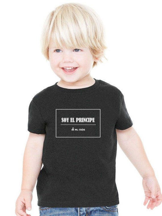 Boy black t-shirt or body SOY EL Principe de mi casa