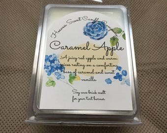 Caramel Apple hand-poured soy wax brick melt