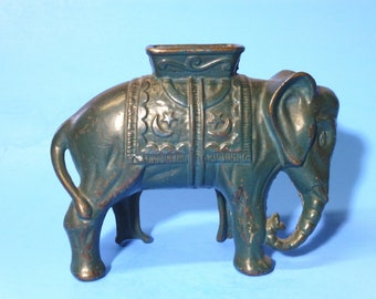"Cast Iron ""Large Elephant w/Howdah"" Bank  A. C. Williams 1910-1930's"