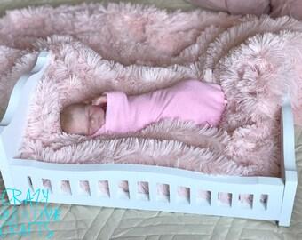 Baby bed photo prop