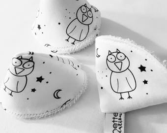 Pee cone protects pee pee teepee, pare pee * teepees to wee * 100% organic cotton * OWL motif in the night