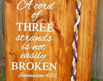 Rustic Wedding Ideas, Unity Braids®, Rustic Wedding, Ecclesiastes 4:12, Unity Wedding Braid, Cord Of Three Strands, Wedding Board, Love