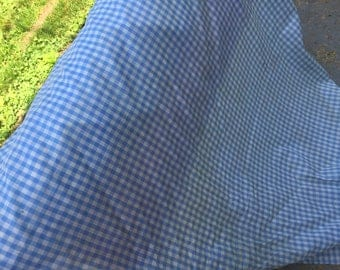 BLUE and WHITE Check Cotton Dorothy's Dress Fabric Yardage