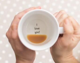 Plain I Love You Mug, Love Gift, Valentines Mug, Valentines Gift, Gift for Wife, Hidden Message Mug, Secret Message Mug, Romantic Mug