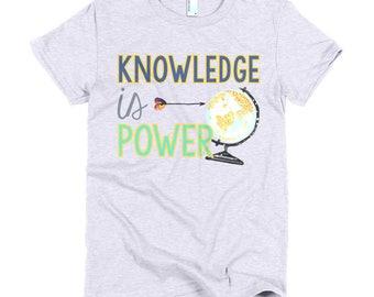 Knowledge is Power Short sleeve women's t-shirt