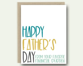 Greeting Card | Father's Day Card | Card For Dad | Funny Fathers Day | Funny Card | Funny Dad Card | Father's Day Gift
