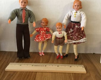 Dollhouse family of four