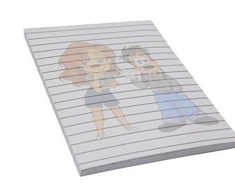 Max And Roxanne A Goofy Movie Memo Pad - Writing Note Pad - Powerline - 90s Baby