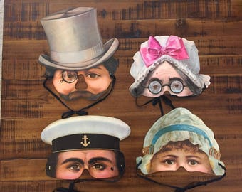 Vintage Paper Masks/1984 Mamelok Press/Stockholm's Leksaksmuseum Collection/Paper Masters/Choose One or All Four for a Discounted Price!!