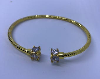 Square Rhinestone Bangle bracelet