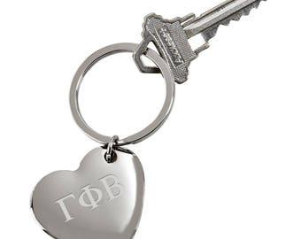 Gamma Phi Beta Heart Keychain