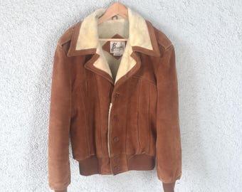 Vintage Berman's Early 80's Suede Jacket Size 44