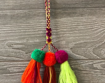 Colorful Pompom Tassels