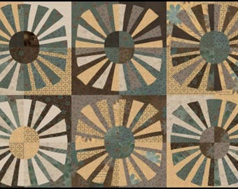 1 Panel (2/3 yd) - Shadows and Sunshine Fabric by Henry Glass & Company