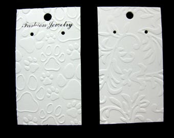 Embossed Earring Cards Set of 25 Choose Your Embossing
