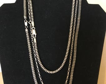 One Sterling Silver chain necklace