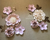 SWEET LEAH Paper flower backdrop/Paper flower wall/Wedding Backdrop/Bridal Baby shower/Nursery decor/Christening/Sweet16/Holy communion