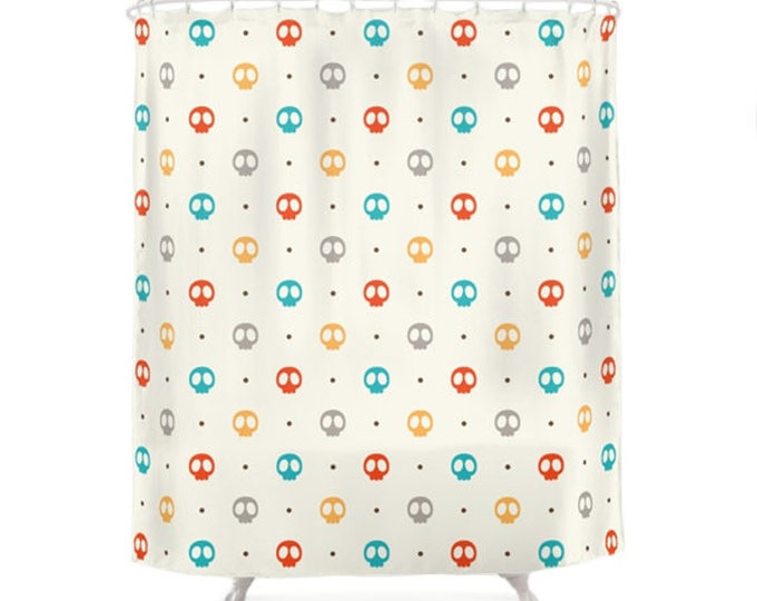 Color Skulls Pattern Shower Curtain