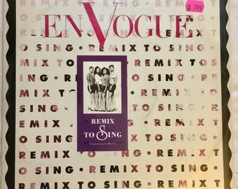 """Holiday Music En Vogue - Silent Nite - Hold On - 1991 East West 12"""" 45rpm Picture Sleeve #vinyl #dj"""