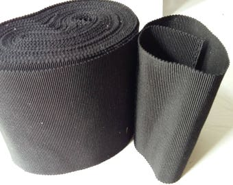 Black grosgrain 10 cm width