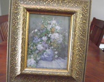 Beautiful Renoir Spring w. Ornate Wooden Frame