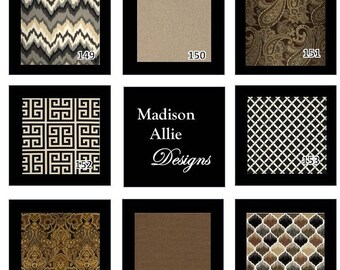Custom  Order Bench Swing Seat Cushions, Pillows, Covers - Cream Brown Tan Black Gray White
