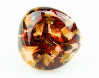 Ring (borosilicate glass) rose / red