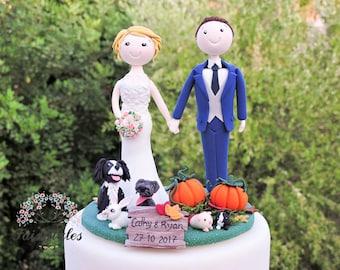 Pumpkins Wedding Cake Topper