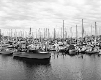 Sailboat Photography, Sailboat Print, Black And White Photography, Boat Photography, Nautical Print, Nautical Decor, Fine Art Photography