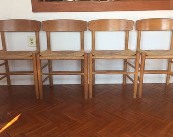 Danish Modern Mobler Dining Chairs - Set of 4