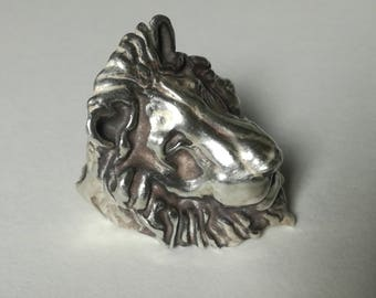 Lion Ring Sterling silver-lion ring