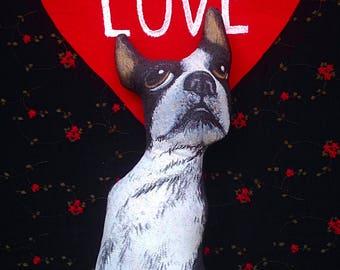 Handmade Boston Terrier Pillows, Boston Terrier Pillows, Boston Throw Pillows, Dog Shaped Pillows, Boston Terrier Art,