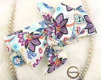 Paris Floral headwrap, baby head wrap, fabric head wrap, toddler head wrap, newborn head wap, headwarp, baby turban, headwrap