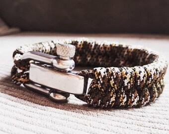Paracord bracelet infiltrate brown