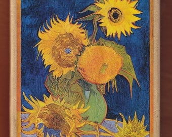 Van Gogh Sunflowers Destroyed In World War II Bombing raid – 1945.FREE SHIPPING.
