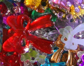WHOLESALE LOT OF + 145 BEADS SEQUINS TO BE STUCK SCRAPBOOKING 11 / 25MM
