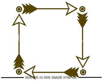 Tribal Square svg / dxf / eps / png files. Digital download. Compatible with Cricut and Silhouette machines. Small commercial use ok.