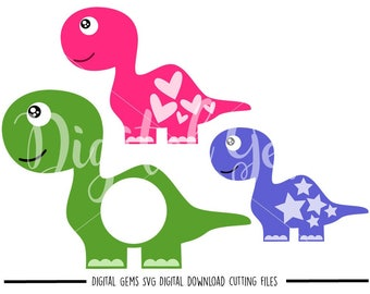 Dinosaur svg / dxf / eps / png files. Digital download. Compatible with Cricut and Silhouette machines. Small commercial use ok.