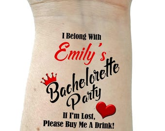 Bachelorette party temporary tattoos bachelorette tattoos for Bachelorette party tattoos