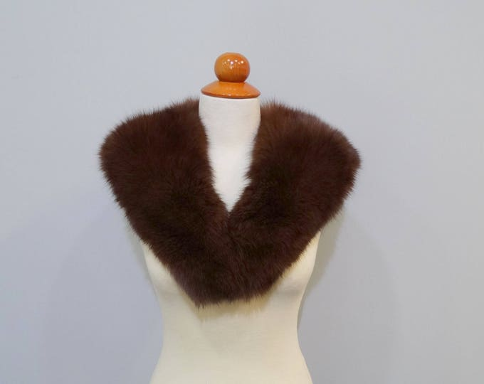 Fox Fur Collar Ideal for Leather Jacket F672