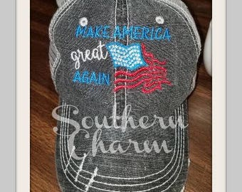 Make America Great Again with Flag Trucker Hat